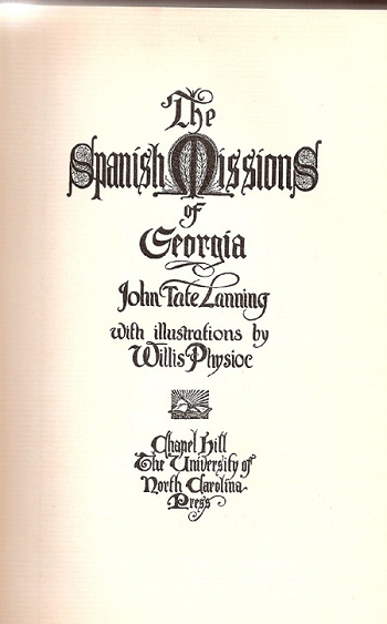 The Spanish Missions of Georgia