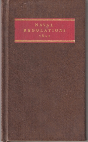 Naval Regulations, 1802